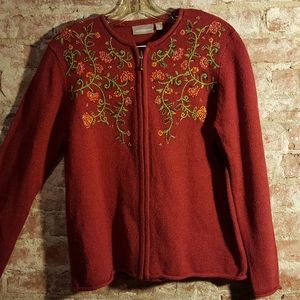 Croft & Barrow Embroidered Sweater